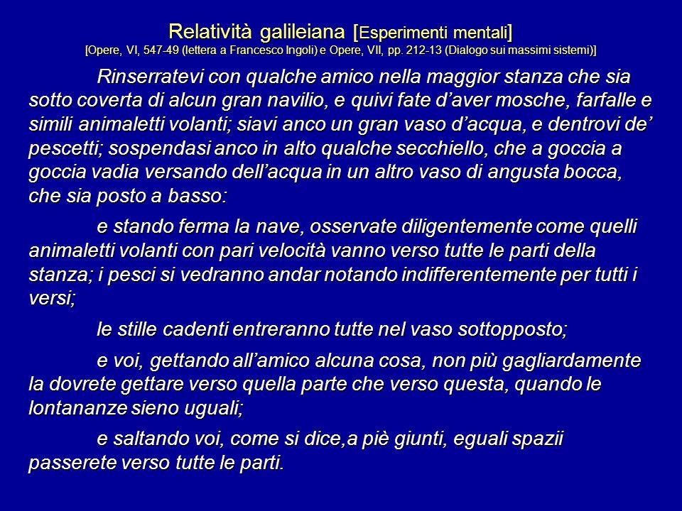 Relatività galileiana [Esperimenti mentali]